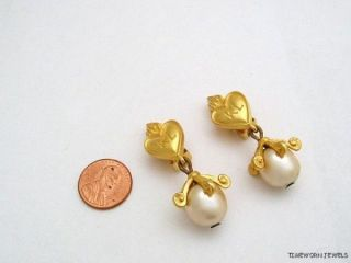 Karl Lagerfeld Chanel Designer Large Drop Pearl Earrings