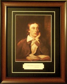 John Keats English Romantic Poet Quote Framed