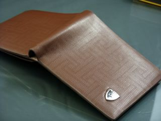 Genuine Leather Brown Mens Womens Bifold New Fashion Designer Wallet