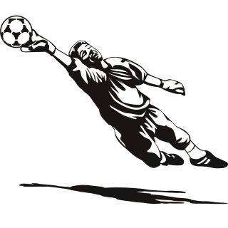 Goal Keeper Goalie Football Sport Wall Art Sticker Decal Transfers