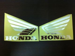 A019 2D Honda Swing Chrome Silver New Logo Decals Stickers Quality