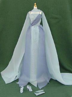 Designer Retro Grace Kelly Blue Chiffon Gown Silkstone