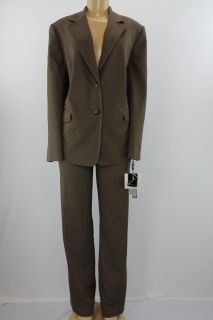Tahari Women Suit Set Keith Pant Jacket Set Lt Brown Size 20W