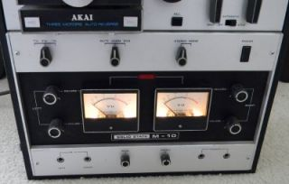 Akai M 10 Reel to Reel Tape Recorder Working
