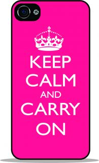 Keep Calm and Carry on Tropical Pink Black Cell Phone Case for Apple