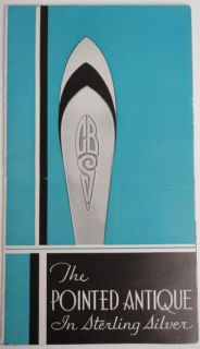 Bigelow Kennard Pointed Antique Sterling Silver Product Foldout 1950S