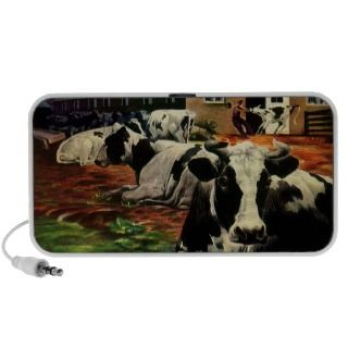 Vintage Business, Dairy Farm w Holstein Milk Cows Travelling Speaker