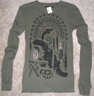 Mens JimmyZ Graphic Long Sleeve Thermal Shirt