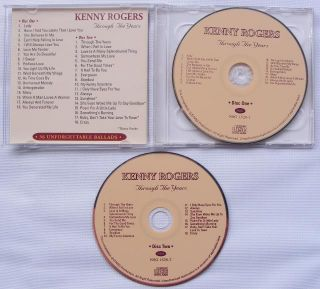 Kenny Rogers Through The Years Greatest Hits 2 CD New