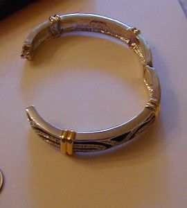 Jacqueline Kennedy Day Night Silver and Gold Tone Bracelet