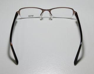 New Kensie Magic 50 17 135 Brown Multicolor Half Rim Eyeglasses
