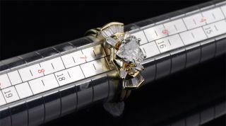 Carat Natural Diamond Ring Heart Shaped Wedding Solid Yellow White