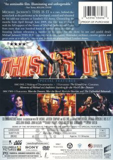 Michael Jackson This Is It 2 Disc Limited E New DVD