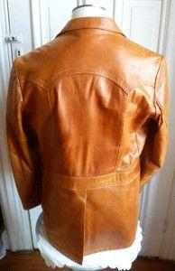 Vintage Kenny Rogers Western Wear Lambskin Leather Jacket 44 L