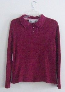 Keren Hart LS Wine Red Sweater L Orig $44