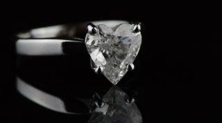 Carat Natural Diamond Ring Heart Cut Engagement Wedding Solid White