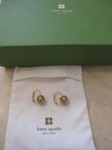 Kate Spade Keswick Gold Huggie Lever Earrings New