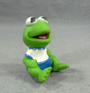 80s The Muppet Show Sesame Street Kermit The Frog Rubber Doll Figure