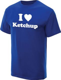 Love Ketchup T Shirt Cool Funny Retro Tee Royal M