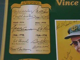 Vince Lombardi Titletown Legends Autograph Auto Green Bay Packers 68