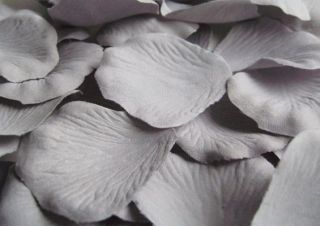 100 Quality Dove Grey Silk Rose Petals Wedding Confetti