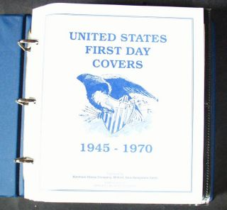 Kenmore First Day Covers 1945 1970 Stamp Set Collector 100 Count