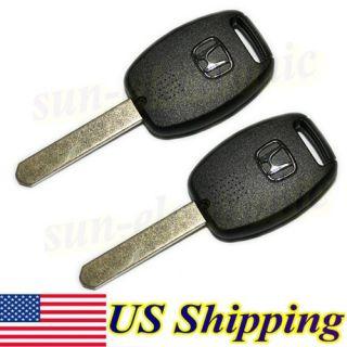 Car Remote Uncut Key Case Shell 3BT for Honda Accord Civic Pilot