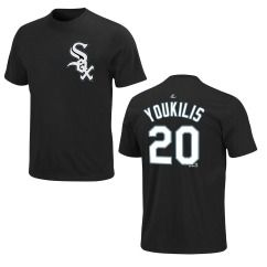 Chicago White Sox Kevin Youkilis Black Name and Number Jersey T Shirt