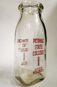 State College Half Pint Dairy Milk Bottle Keyser West Virginia