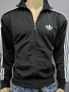 68 Adidas Firebird Mens Black Track Zip Up Jacket L
