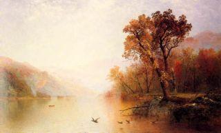 Lake George New York John Kensett Canvas Repro Huge