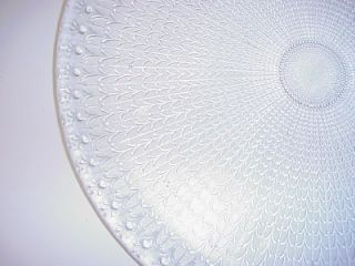 Crystal Clear Large Round Platter Tray