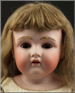 Dep Kestner Bisque Doll w Jointed Kid Leather Body Sleep Eyes Hair