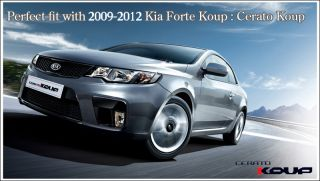 09 11 Kia Forte Koup Front Lower Bumper Grill 1P