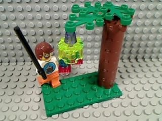 LEGO BIRTHDAY KID & PINATA Candy Party Tree Grass Boy Stick Bat Game