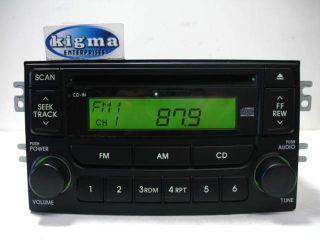 Kia Spectra 2005 2006 CD Player Radio Black P N 96150 2F100 Tested