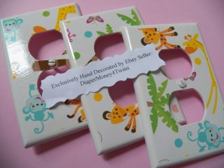 Kids Room Babys Room Custom Made Switchplate Covers Various Designs