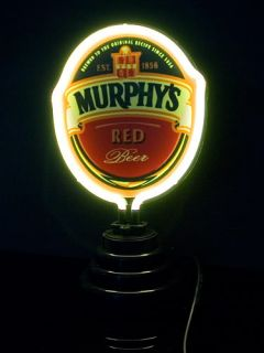 TB120 Murphys Red Beer Bar Gift Display Table Top Neon Light Sign