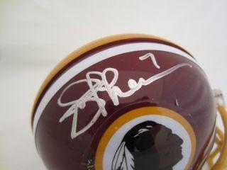 Joe Theismann Signed Mini Helmet Washington Redskins PSA DNA