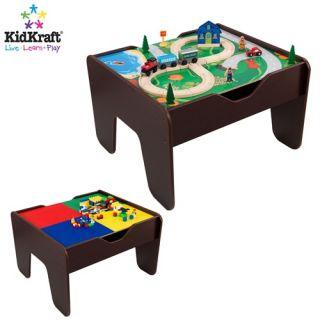 KidKraft Kids Play 2 in 1 Building Blocks Train Activity Table