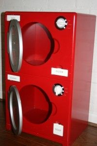 Pottery Barn Kids Retro Kitchen Washer Dryer Red RARE Will SHIP