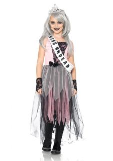 Queen Dress and Crown Scary Kids Childrens Halloween Costume