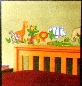 Kids Room Wall Decals Nursery♥safari☻jungle☻monkey♥zebra