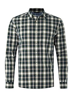 Howick Miller check long sleeved shirt Evergreen