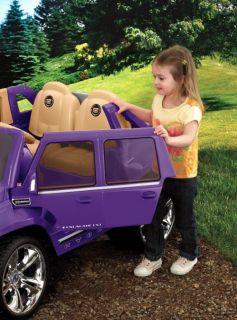 Power Wheels Cadillac Escalade 12V Electric Kids Ride On Car   Purple