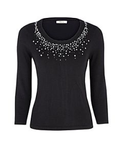 Precis Petite Black embellished jumper Black