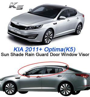 KIA 2011 2012 Optima/K5 Chrome Sun Shade Rain Guard Door Window Visor