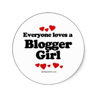 Everyone Loves a Blogger T shirt Sticker