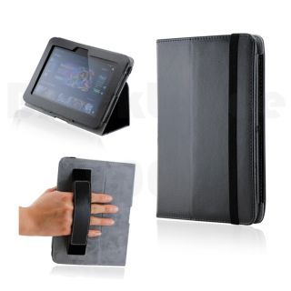 Kindle Fire 7 HD Black Magnetic Microfiber Leather Case w Smart Cover