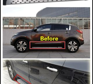For 2011 2012 Kia Sportage R Side Step Step Running Board Aluminum